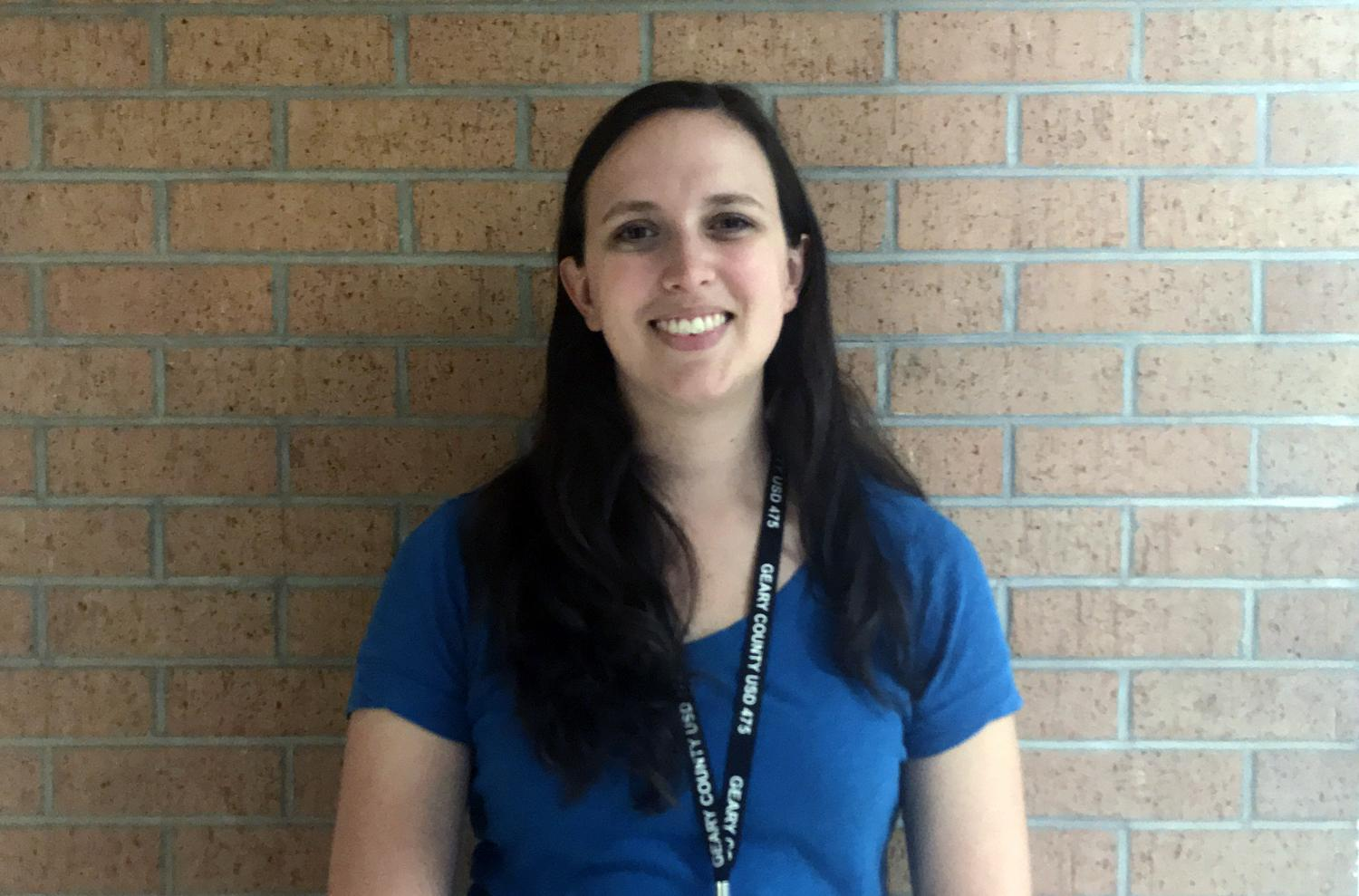 Mrs. Grigsby, geometry teacher, is in her first year at JCHS.