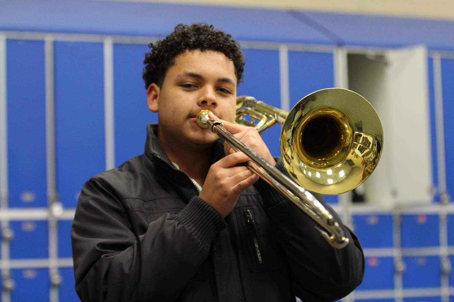 William Osorio is the first student to qualify for KMEA State Band in 13 years.